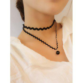 Layered Wave Chokers Necklace