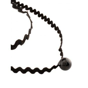 Layered Wave Chokers Necklace - BLACK