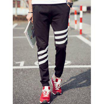 Men's Elastic Waist Stripes Pattern Jogger Pants