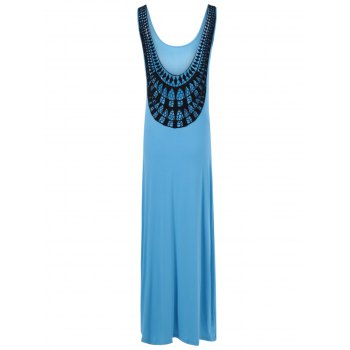 U-Neck Fitted Openwork Dress For Women