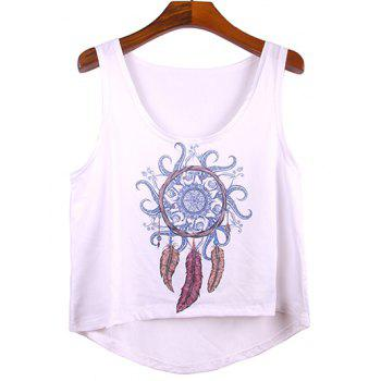 Trendy Women's Scoop Neck Asymmetric Tank Top