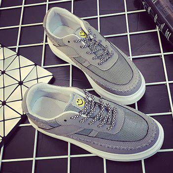 Trendy Breathable and Stitching Design Women's Athletic Shoes - GRAY 38