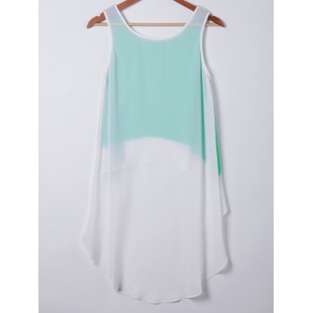 Ample col rond manches Top 's Casual femmes - Tiffany Bleu XL