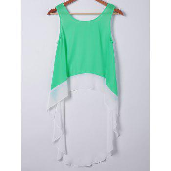 Casual Women's Loose-Fitting Round Neck Sleeveless Top - APPLE GREEN APPLE GREEN