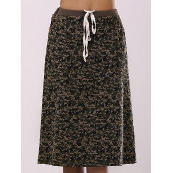 Fashionable Women's Camo Printing Pocket Skirt