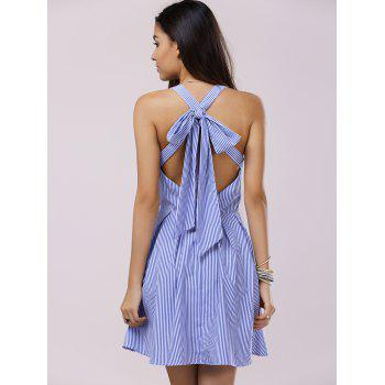Lovely Women's Sleeveless Stripe Mini Dress
