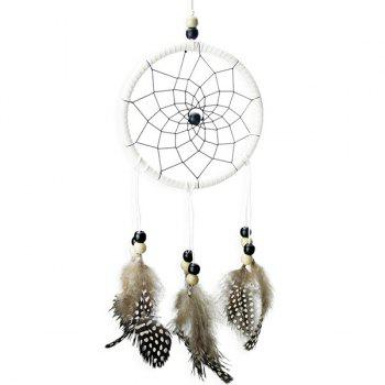 New Circular Net With Natural Feathers Wood Dreamcatcher Wall Hanging Decor - COLORMIX COLORMIX