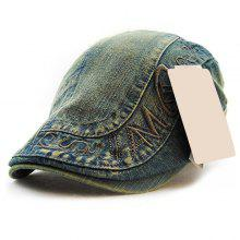 Stylish Letter Embroidery Do Old Denim Fabric Cabbie Hat For Men