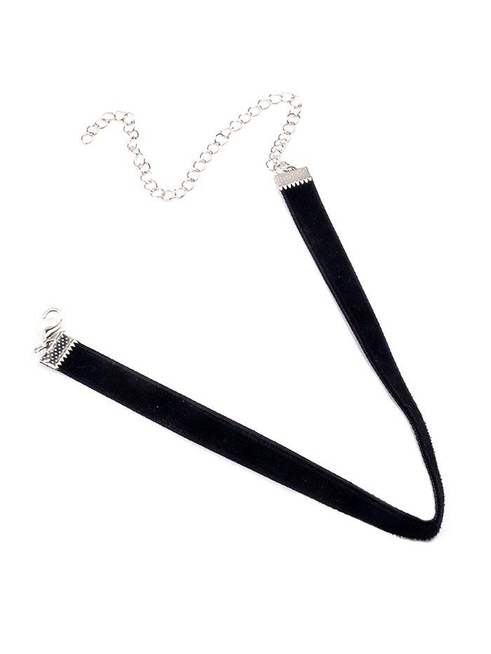 Adjustable Alloy Chokers Necklace - BLACK