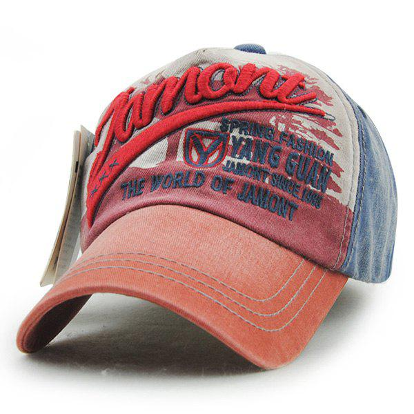 Stylish Letter Embroidery Do Old Unisex Outdoor Baseball Hat - RED