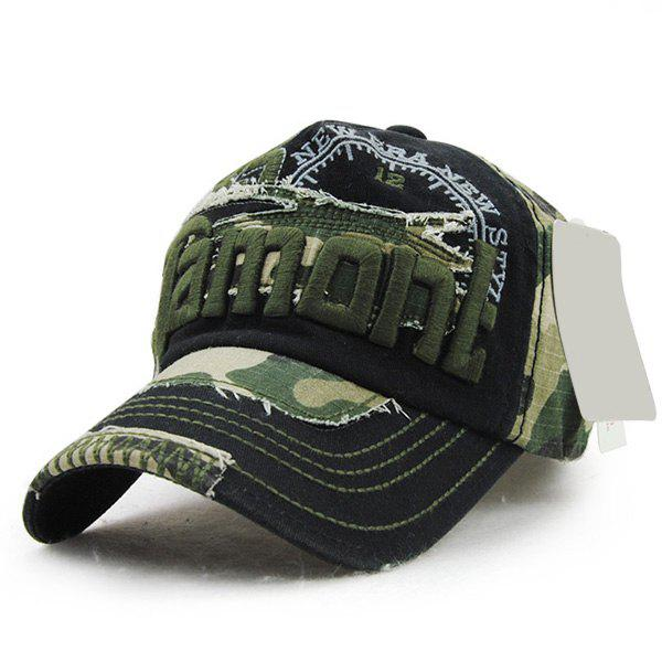 Fashion Letter Embroidery Camouflage Pattern Summer Men's Outdoor Baseball Hat [flb] new cotton cap baseball caps outdoor sport hat snapback hat for men casquette women leisure wholesale fashion accessories