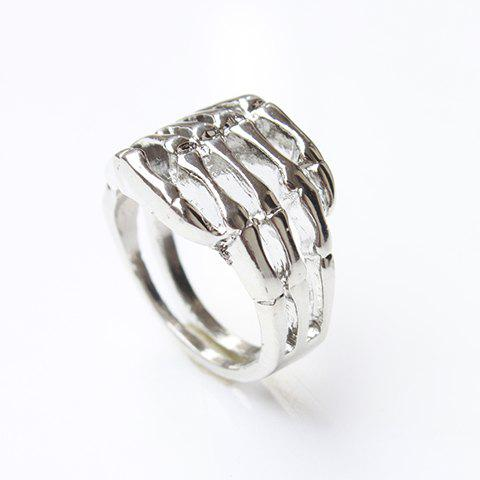 Skull Hand Ring - SILVER ONE SIZE