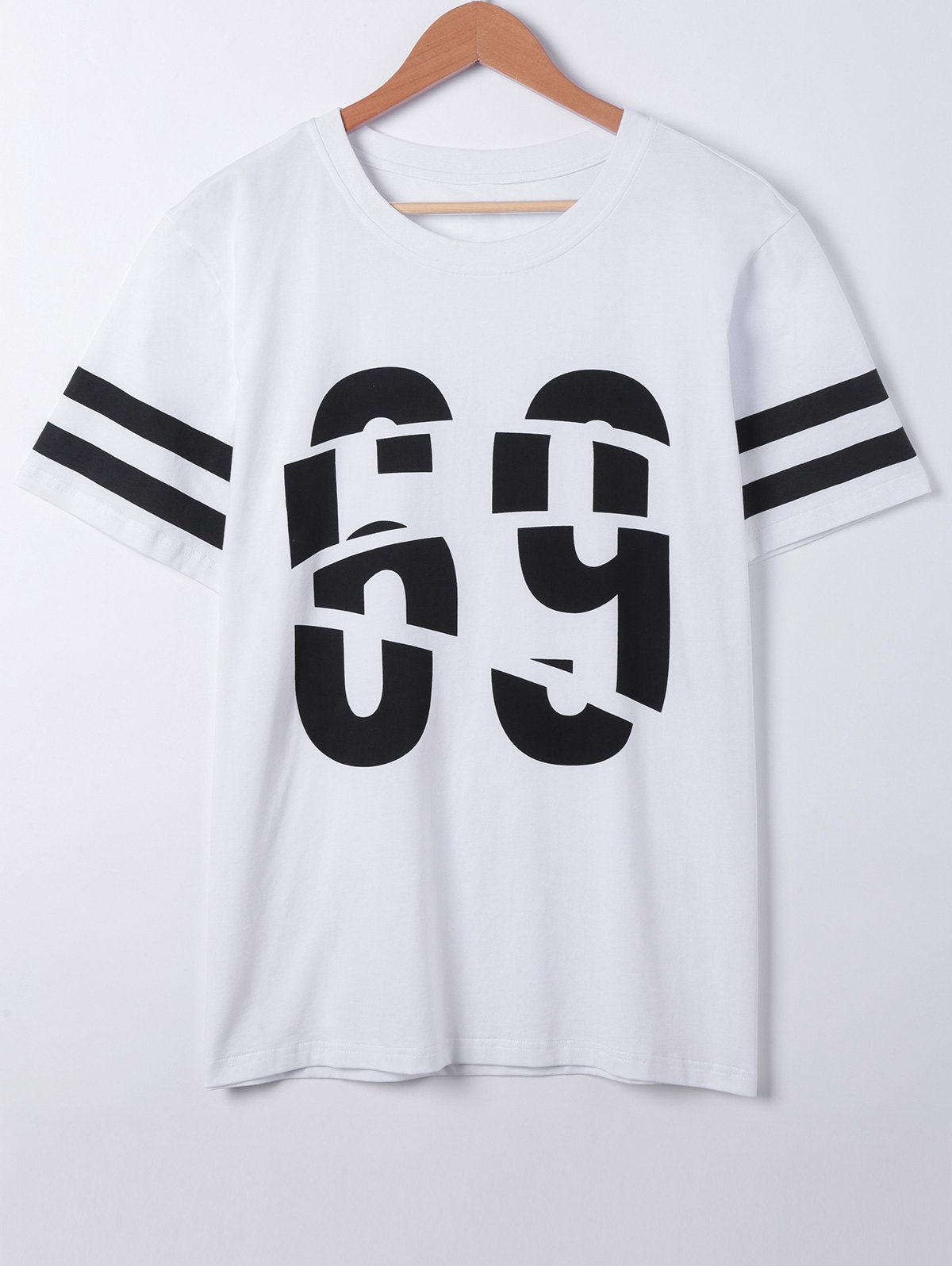 Fashionable Round Neck Character Printing Short Sleeves T-Shirt For Men - WHITE XL
