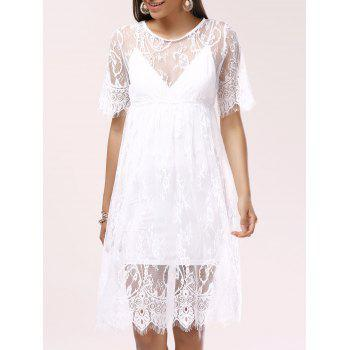 See-Through Lace Cover-Up Dress