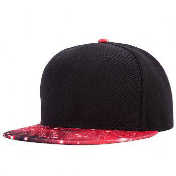 Stylish Galaxy Series Red 3D Starry Sky Pattern Brim Baseball Cap