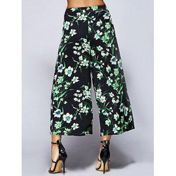 Stylish Printing Nine Minutes Pants For Women - S S