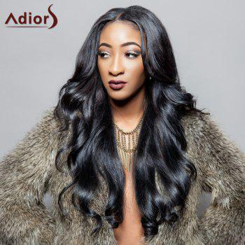 Fluffy Wave Centre Parting Charming Black Long Synthetic Adiors Wig For Women