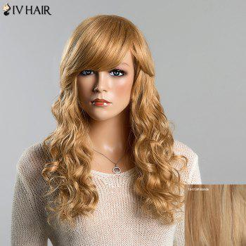 Stunning Long Human Hair Shaggy Wave Capless Siv Hair Wig For Women