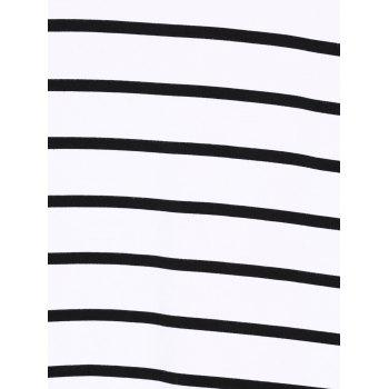 Casual Plus Size Striped Loose-Fitting T-Shirt - STRIPE 4XL