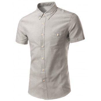 Plus Size Button-Down Short Sleeve Slimming Men's Shirt