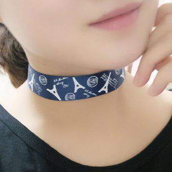 Eiffel Tower Pattern Choker Necklace