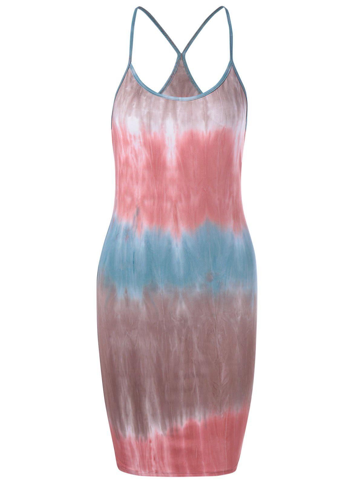 Contracted Knitting Tie-Dye Dress For Women - COLORMIX M