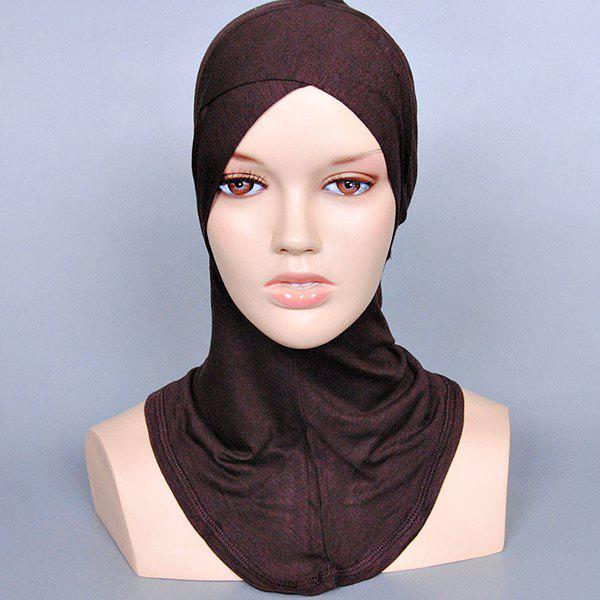 Simple Women's Various Color Islamic Full Cover Inner Hijab Caps Scarf