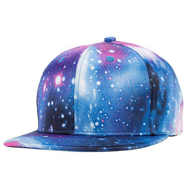 Stylish Galaxy Series Deep Blue 3D Magnificent Starry Sky Pattern Baseball Cap - DEEP BLUE