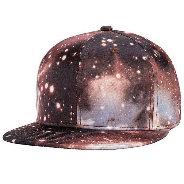 Stylish Galaxy Series Coffee Color 3D Starry Sky Pattern Baseball Cap - COFFEE