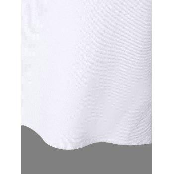 Casual Women's V-Neck Solid Color Slit Short Sleeves Knitwear - WHITE ONE SIZE(FIT SIZE XS TO M)