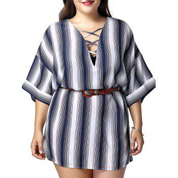Fashionable Women's Long Stripe Printed Shirts