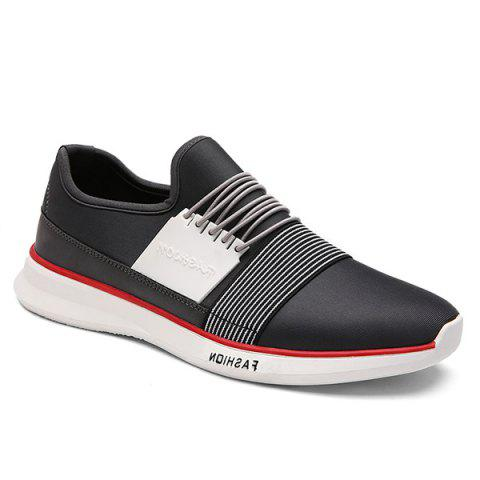Trendy Striped and Elastic Design Men's Athletic Shoes - GRAY 41