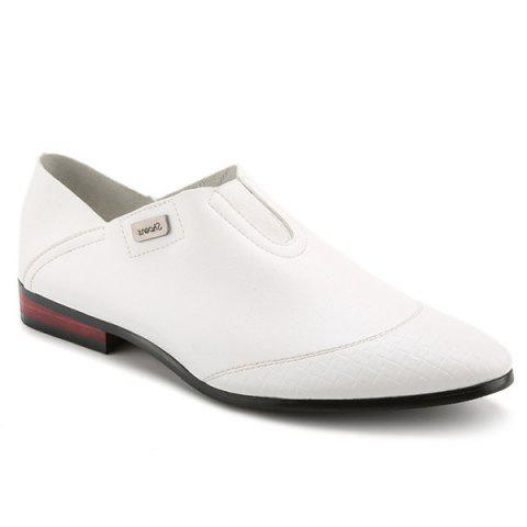 Stylish Slip-On and Solid Color Design Men's Casual Shoes - WHITE 43