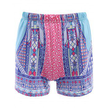 Ethnic Style Colorful Printed Elastic Waist Women's Shorts
