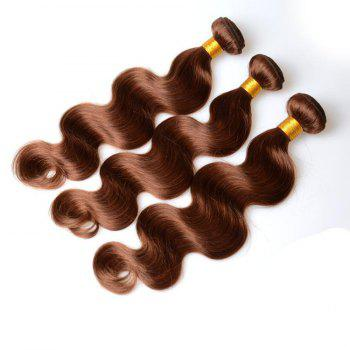 Mode 1 Pcs Dark Brown vague de corps des femmes s '7A Virgin Brazilian Hair Weave