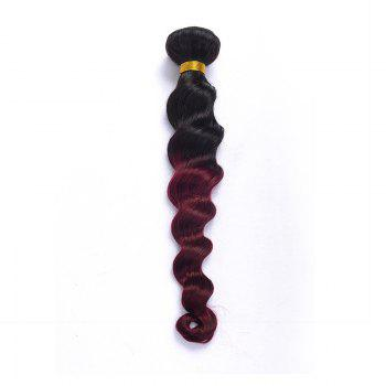 Trendy 1 Pcs Mixed Color Loose Wave Women's 7A Virgin Brazilian Hair Weave - 10INCH 10INCH