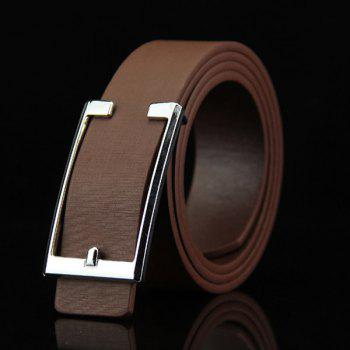 Stylish Simple Cut Out Rectangle Buckle Men's Casual PU Belt
