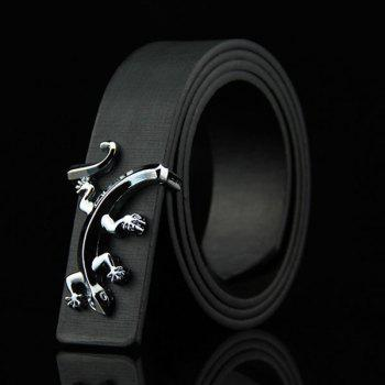 Stylish Reptile Gecko Shape Embellished Men's Casual PU Belt
