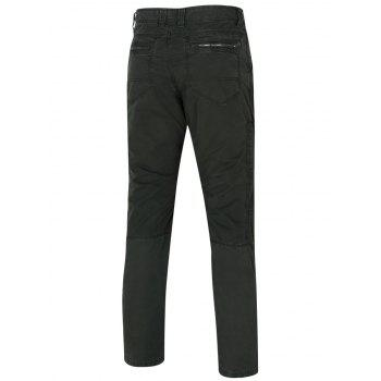 Men's Zipper Design Straight Legs Pants - DEEP GRAY 34
