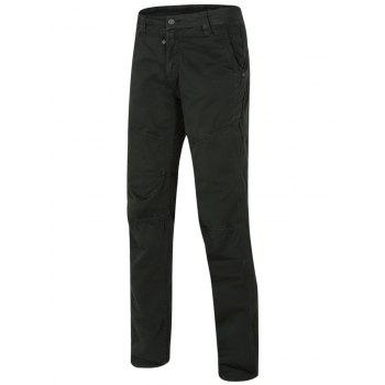 Men's Zipper Design Straight Leg Solid Color Pants