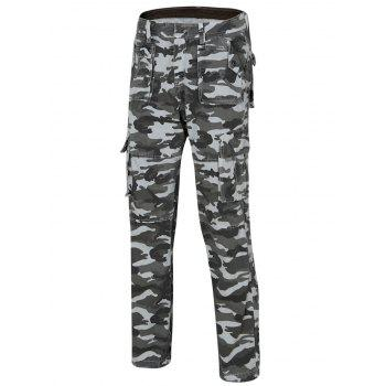 Men's Camo Straight Legs Cargo Pants