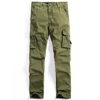 Men's Straight Leg Multi-Pocket Cargo Pants