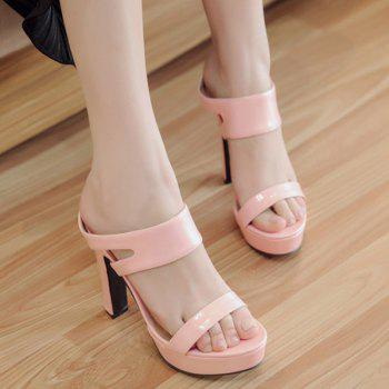 Trendy Chunky Heel and Platform Design Women's Slippers - 37 37