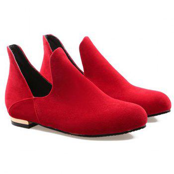 Suede Round Toe Vintage Flat Shoes