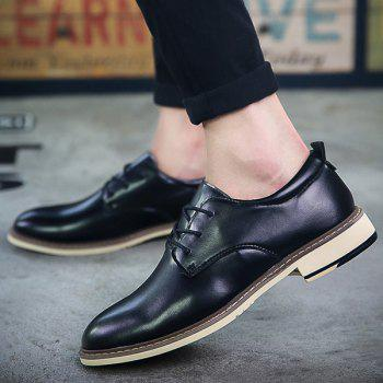 Trendy Tie Up and PU Leather Design Men's Formal Shoes - 43 43