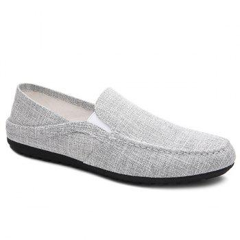 Simple Solid Color and Linen Design Men's Loafers