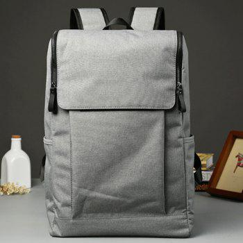 Casual Zips doubles et s Solid Color Design Hommes  Backpack - Gris Clair
