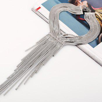 Multilayered Alloy Necklace - SILVER