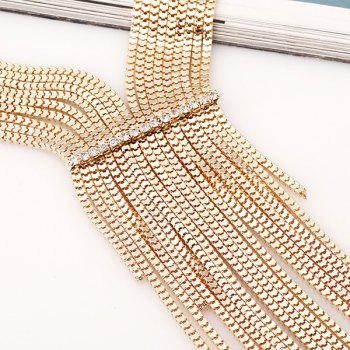 Multilayered Alloy Necklace - GOLDEN