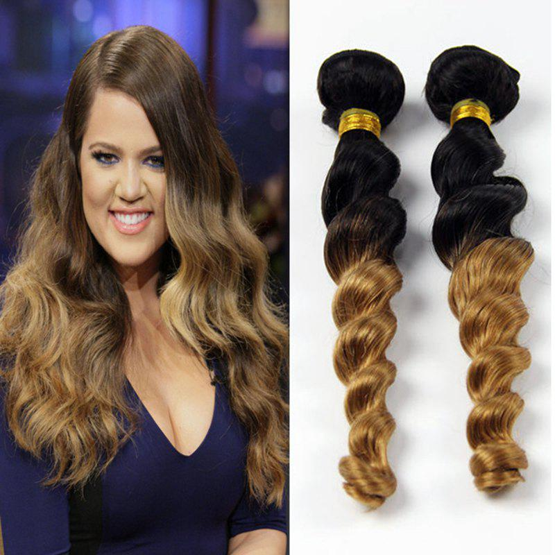 Stylish 1 Pcs Mixed Color Loose Wave Women's 7A Virgin Brazilian Hair Weave - COLORMIX 28INCH